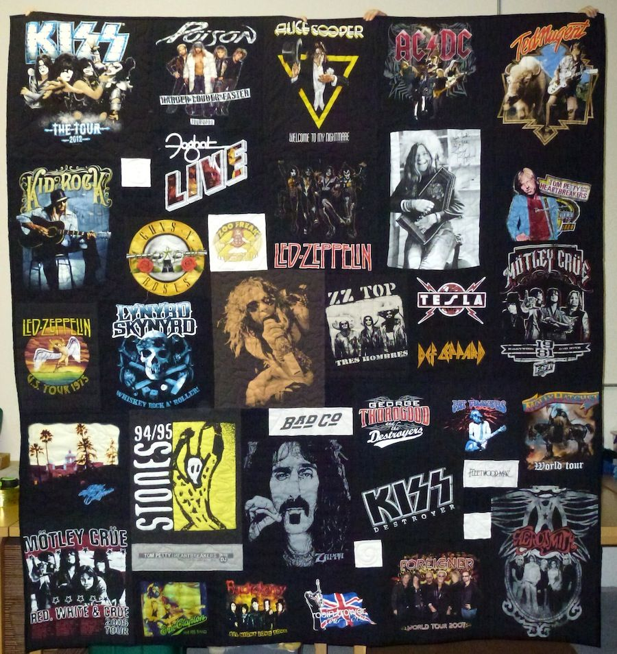 Concert T-shirt Quilt... this is a great idea! Especially with old ... : quilt from tshirts - Adamdwight.com