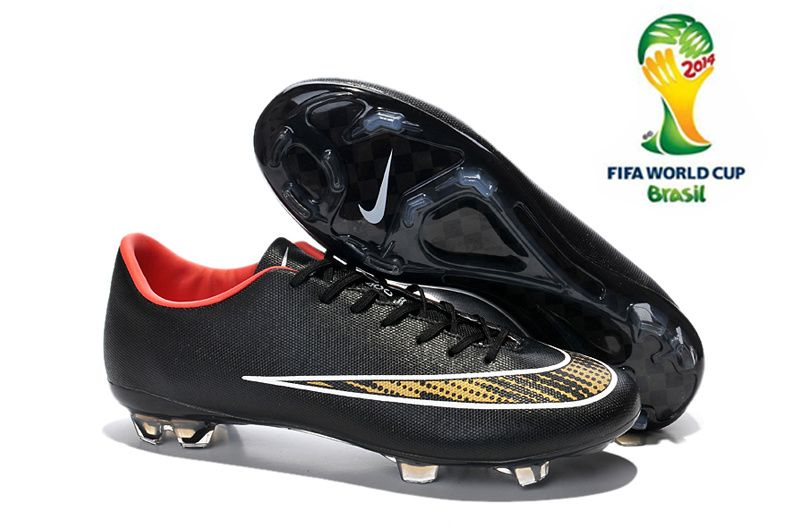 2014 FIFA World Cup Nike Mercurial Vapor X FG Soccer Boots black red