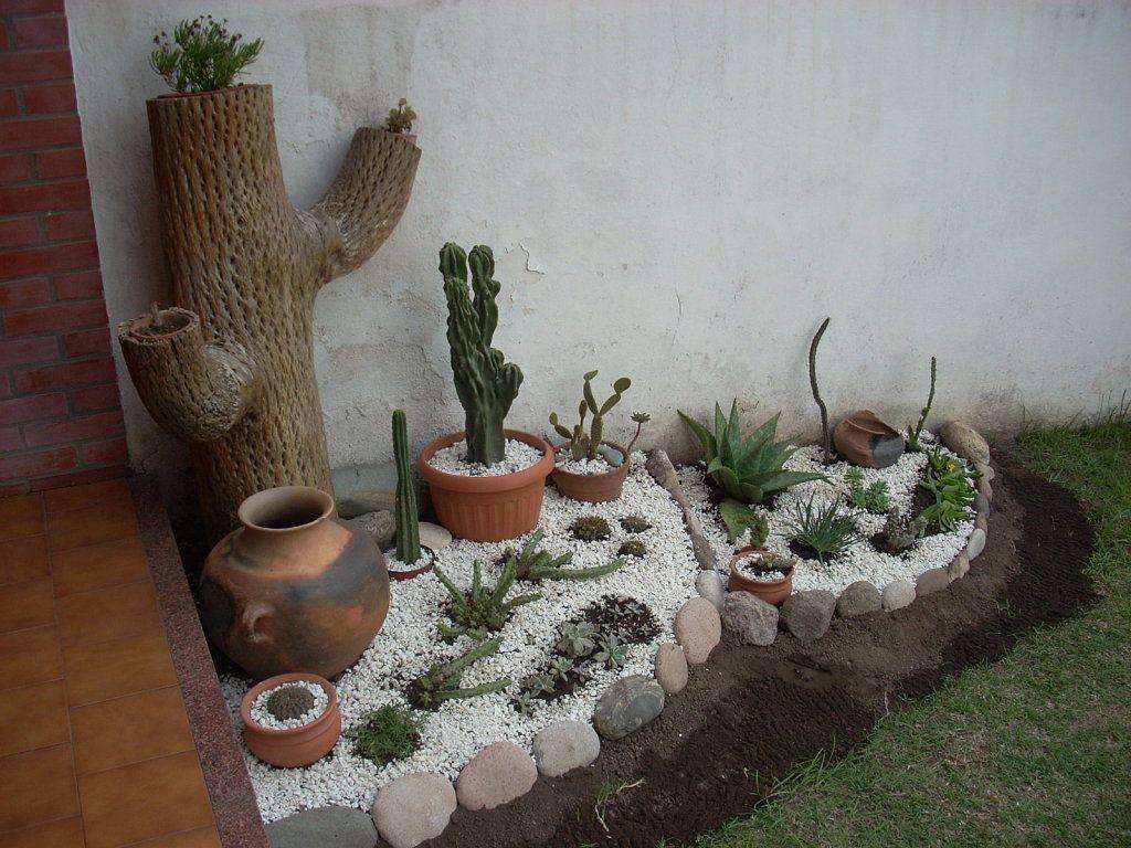 Mi jard n con cactus ideas para la casa jardines - Jardines con cactus y piedras ...