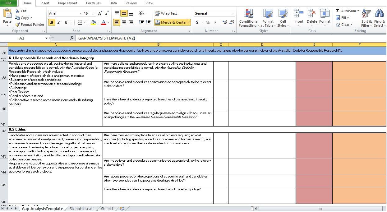Simple Printable Gap Analysis Template Excel | Marketing ...