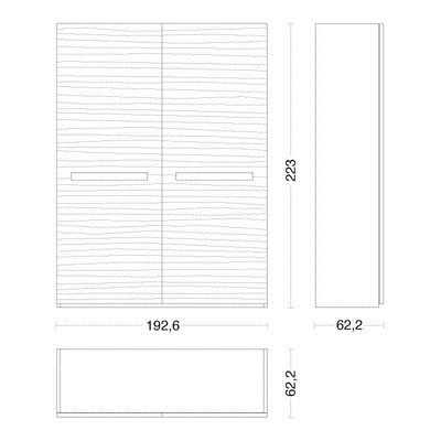 Solid Wood Wardrobe With Sliding Doors PLANO By Riva 1920 | Design Maurizio  Riva, Davide