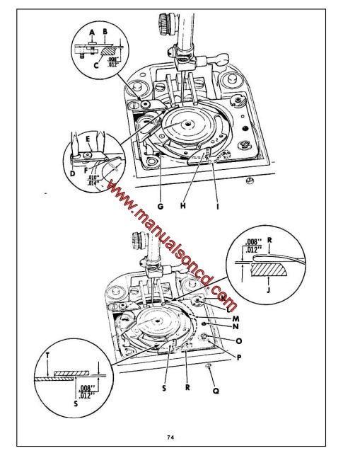 Singer 2000a Sewing Machine Service Manual