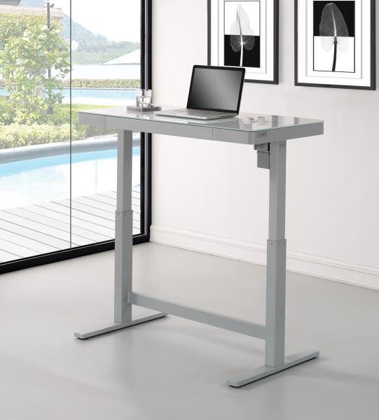 Twin Star International Home Furnishings Odp10444 48d908 Adjustable Height Desk White Adj Adjustable Height Desk Adjustable Desk Adjustable Standing Desk