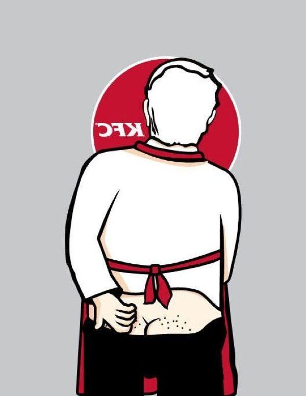 Back of Logo parody illustrations by Douglas Hamilton.