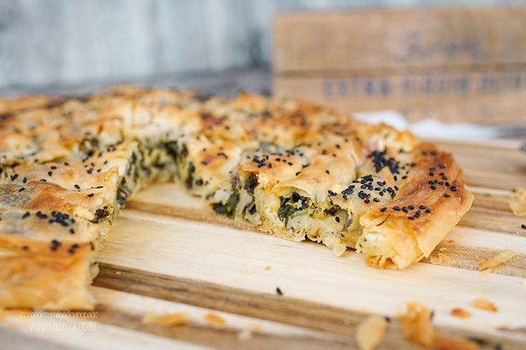 Türkisches Börek mit selbstgemachtem Yufkateig / mit Spinatfüllung #pizzateigmittrockenhefe