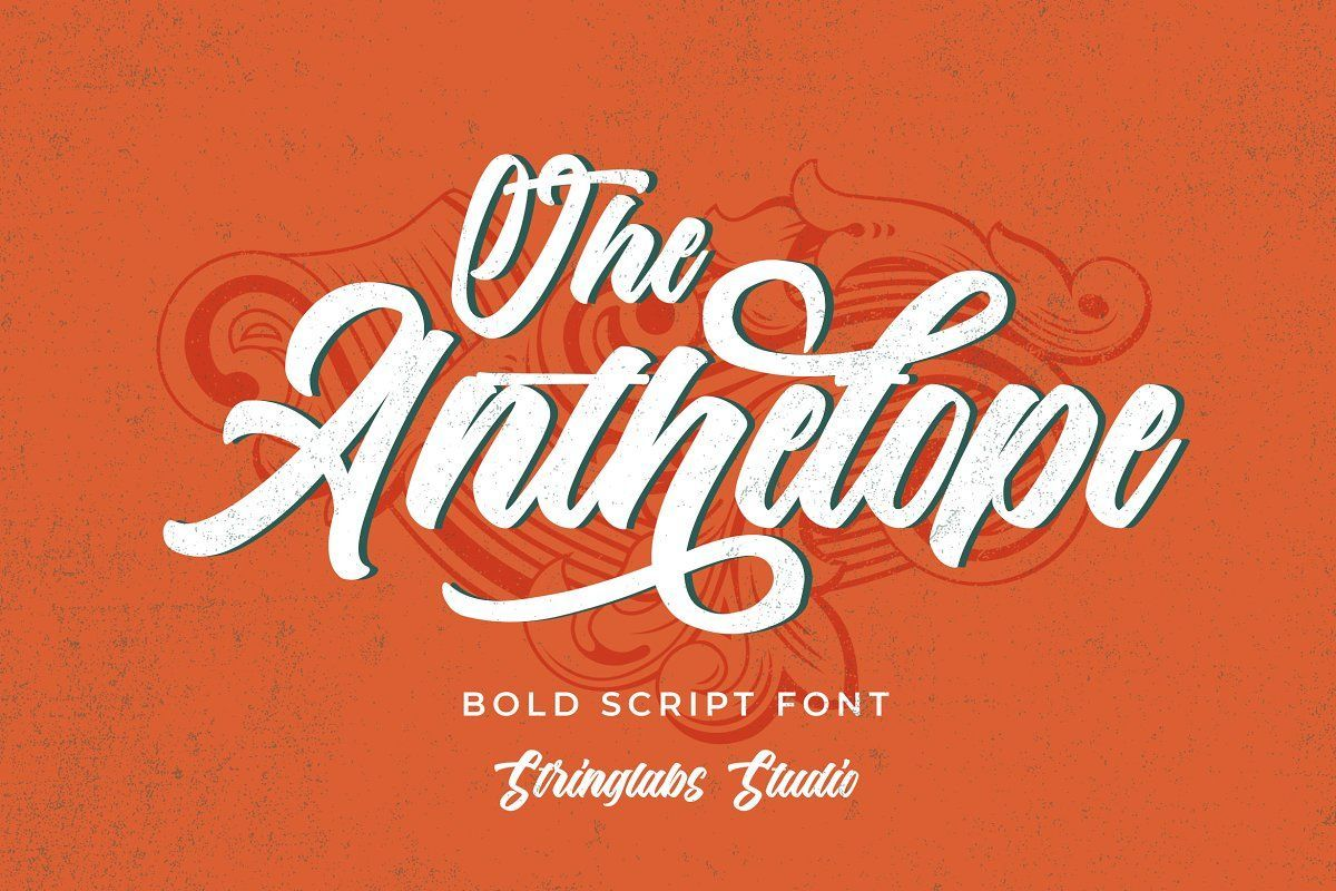 The Anthelope Retro Script Font In 2020 Bold Script Font Retro Font Script Fonts