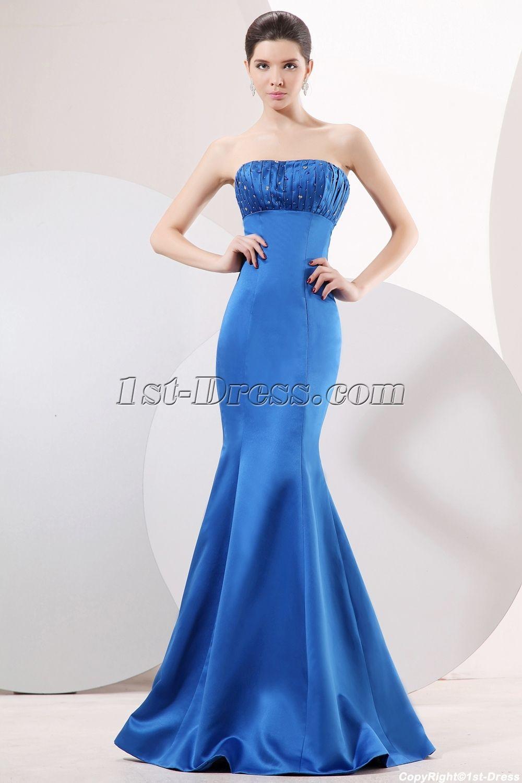 Royal Blue Sheath Prom Dress 2011:1st-dress.com