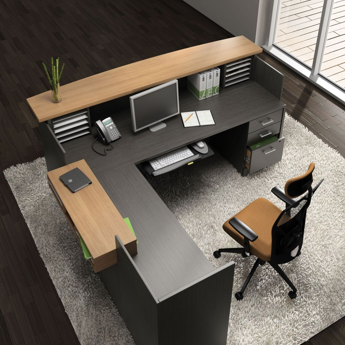 Global Total Office Zira Series Reception Desk Http Www Officeanything Furniture S 548 Htm