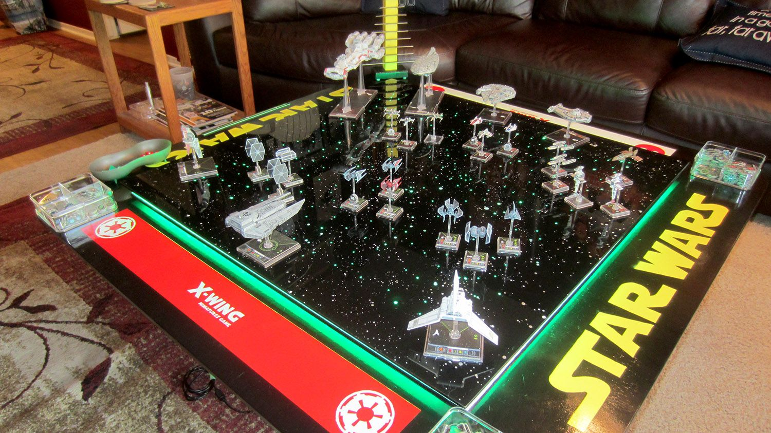 See How One Fan Built A Most Impressive Star Wars X Wing Miniatures Game Board X Wing Miniatures Star Wars Games X Wing
