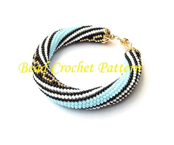 Pattern for bead crochet bracelet \