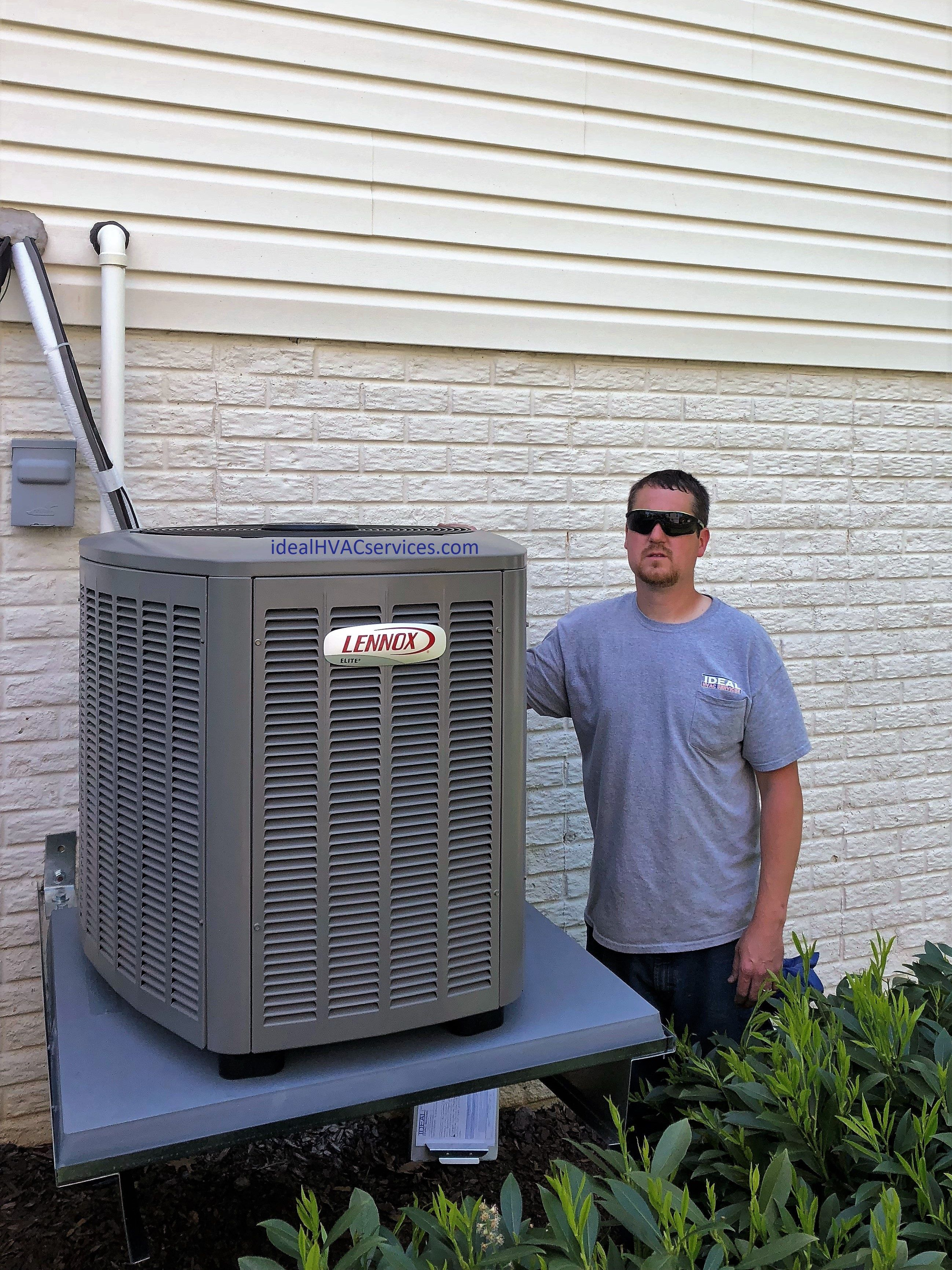 Heating And Air Conditioning Replacement Heat Pump System Hvacideal Lennox Heat Pump System Heating And Air Conditioning Hvac Services