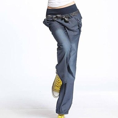 Women 039 S New Fashion Elastic Waist Casual Loose Pants Usd 19 99 Long Jeans Fashion High Waisted Pants