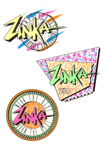 Zinka Mission Statement Surf Logo Retro Logos 80s Logo