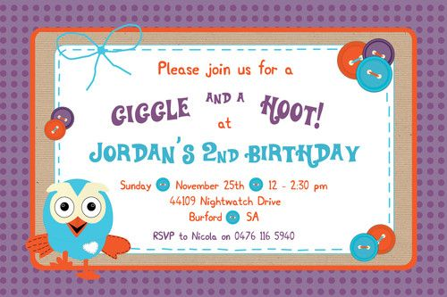 Giggle and hoot birthday invitation ebay cool party ideas birthday greeting cards and invitations ebay filmwisefo