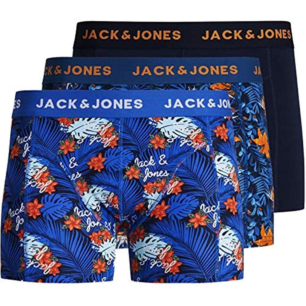 Jack Jones Boxershorts 3er Pack Herren Trunks Shorts Baumwoll Mix Unterhose Bekleidung Herren Unterwasche Boxershorts Bekle Boxer Shorts Trunks Jack Jones