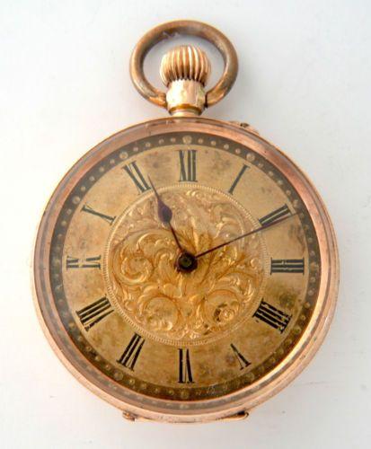 c3952d824 Details about Antique 14 carat 14k Gold Swiss Cuivre Lady's Pocket ...