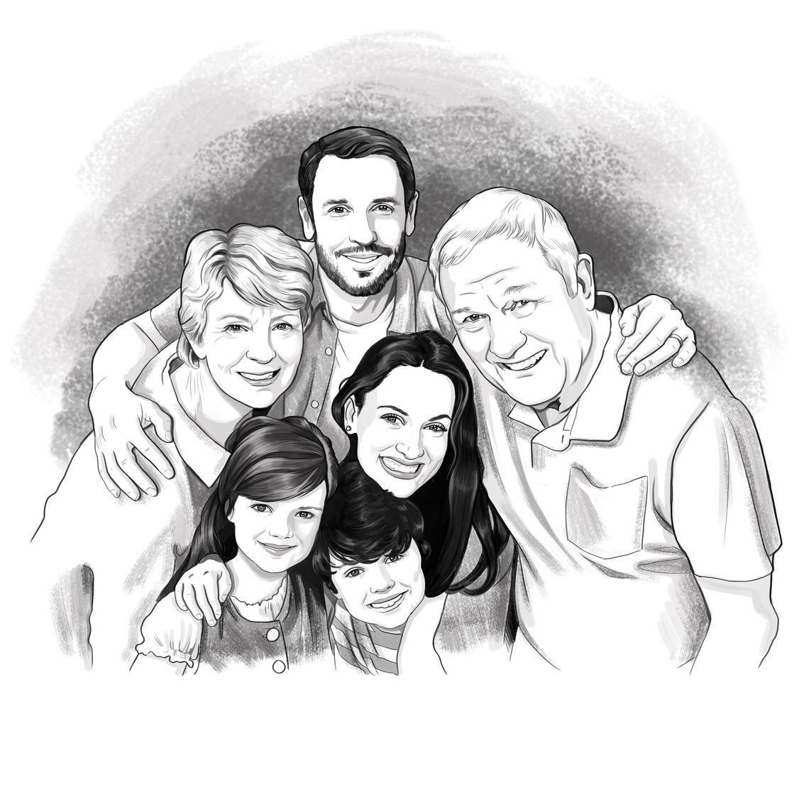 man sketch sketch from photo Custom sketch family skerch pencil sketch