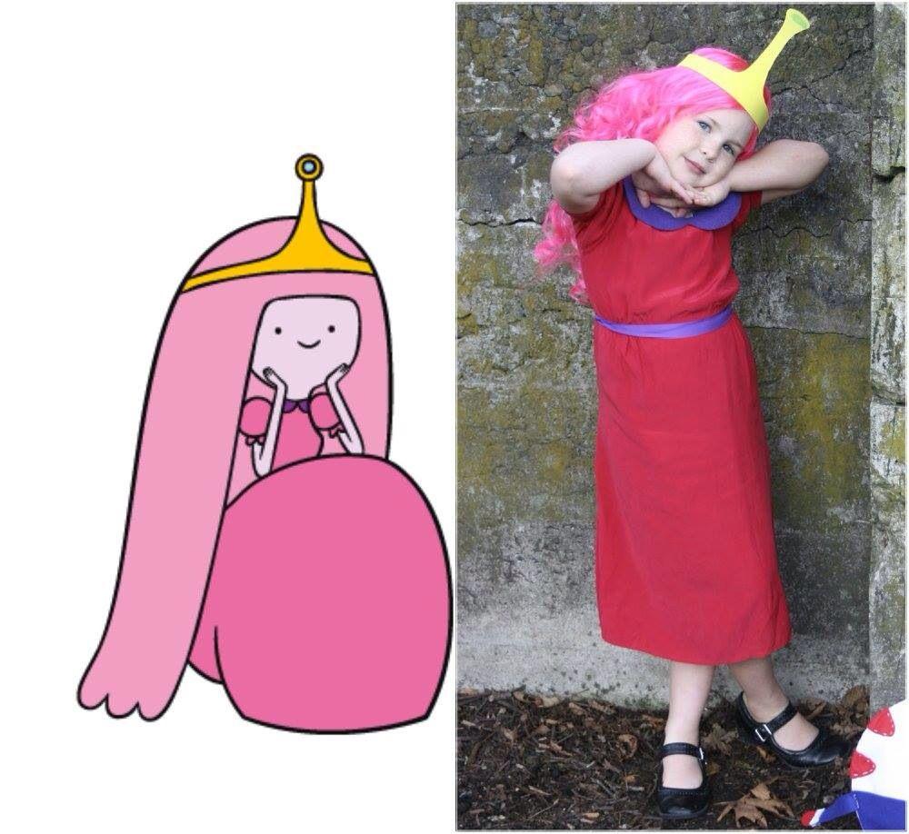 Adventure Time Diy Princess Bubblegum Costume Cosplay Little Girl Princess Bubblegum Costumes Marceline And Bubblegum Adventure Time Cosplay