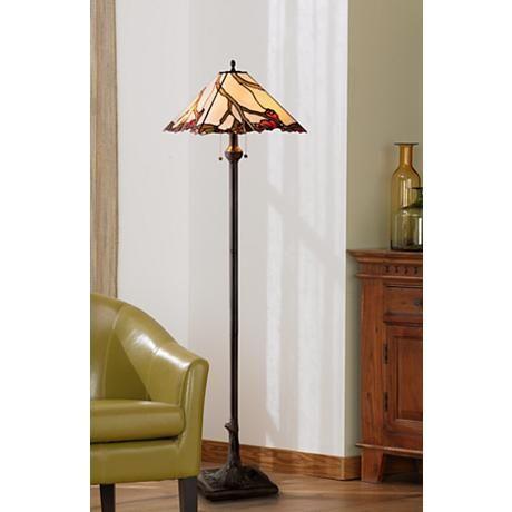 Robert louis tiffany cherry blossom art glass floor lamp style robert louis tiffany cherry blossom art glass floor lamp aloadofball Images