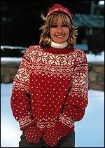 ee3a35a5adf92 Snowflake fair isle sweater. Free pattern   Canadian Living