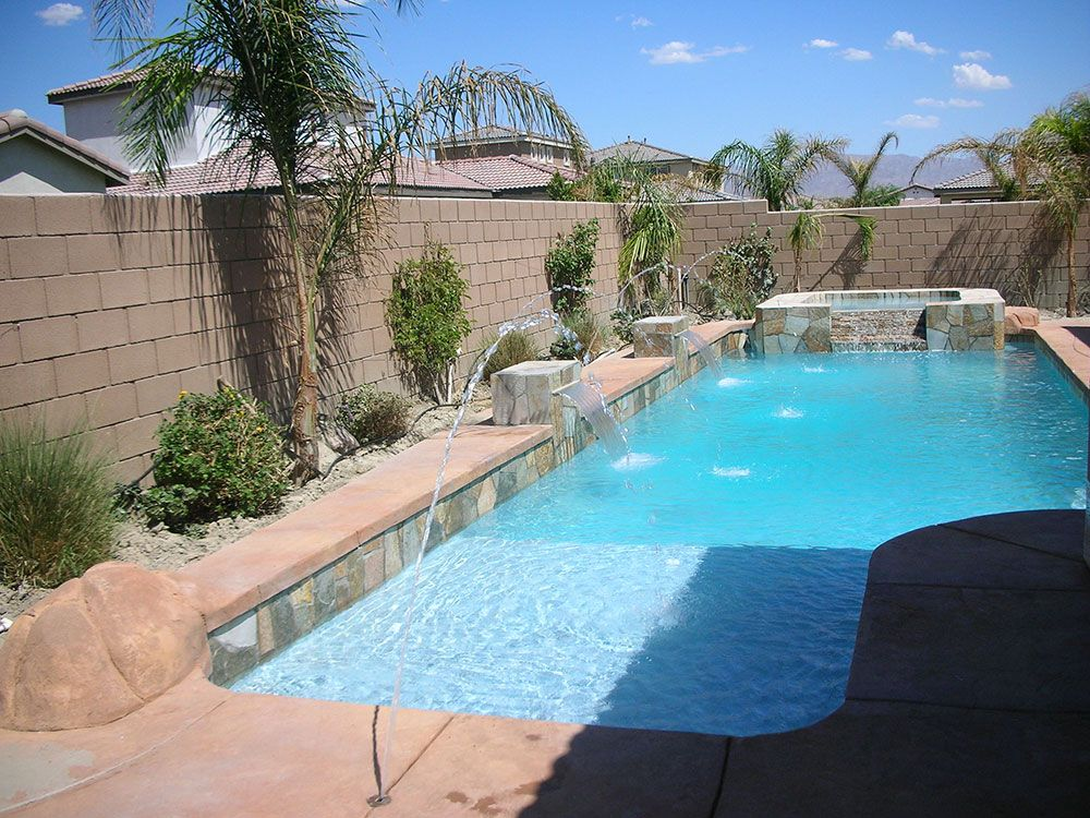 Desert Pool Spa Design Pool Landscaping Backyard Pool Landscaping Spa Pool