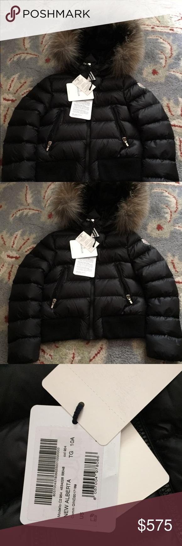 Moncler KIDS New Alberta Down Coat 8 845 furhood NWT