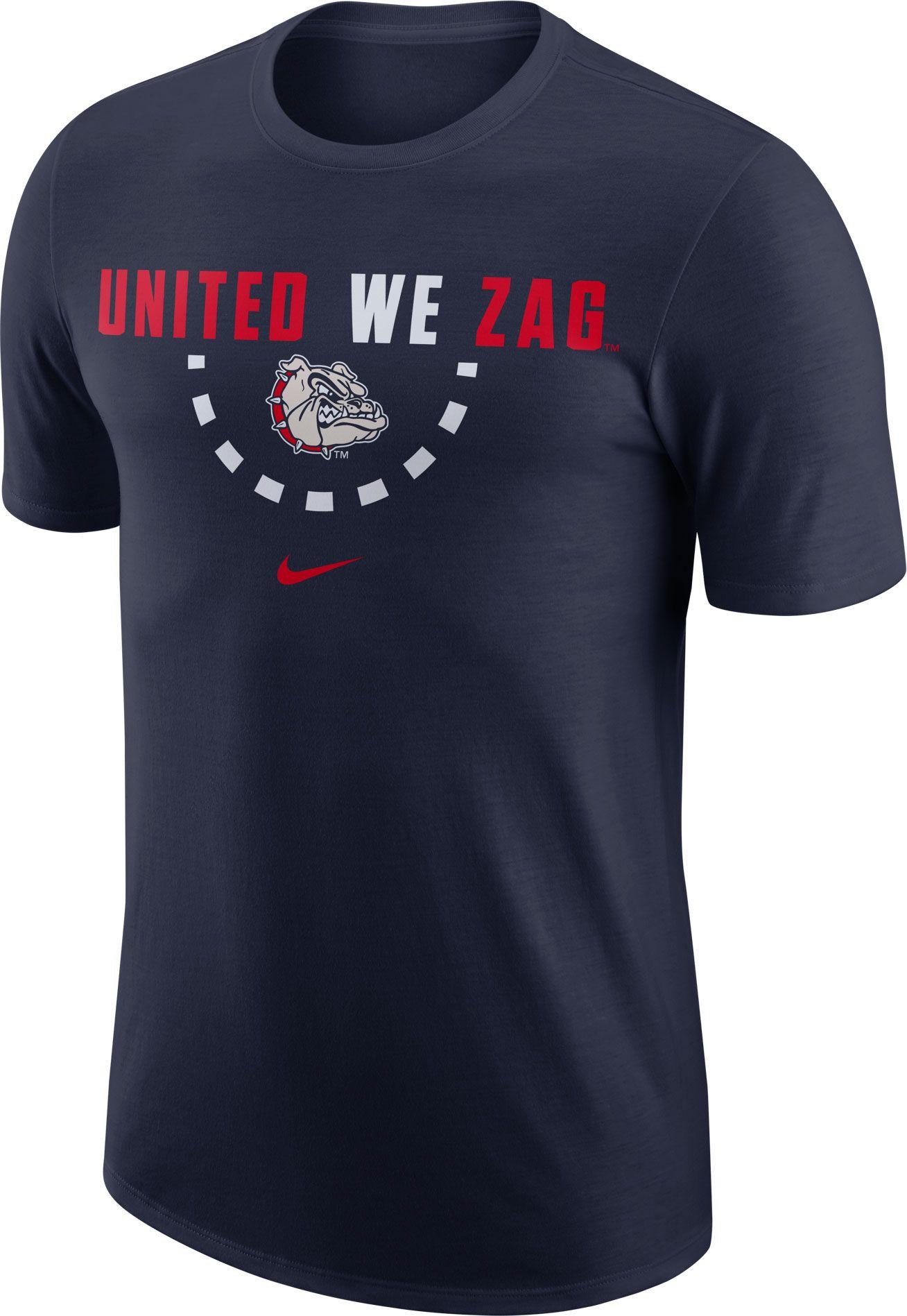 af3db4d7 Nike Men's Gonzaga Bulldogs Blue Mantra Basketball T-Shirt ...