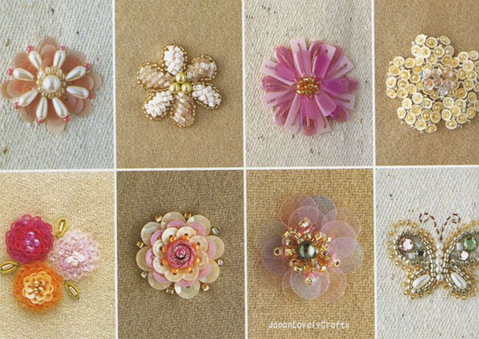 Haute couture beads motif japanese bead embroidery