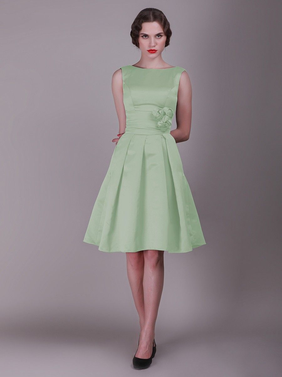 Httpgndressesvintage mint green bridesmaid dresses vintage bridesmaid dress with pleated skirt and rose details ombrellifo Image collections