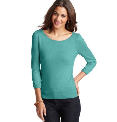 Loft - LOFT sweaters 121012 - Button Back 3/4 Sleeve Sweater  I want this!