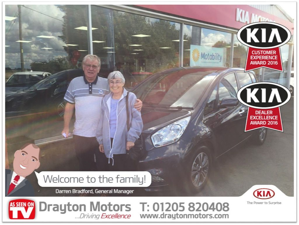 Mr and Mrs Twelftree collecting the second Venga from