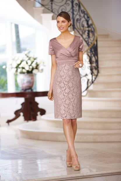 Vera Mont Satin Lace Dress In 2019 Informal Wedding