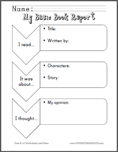 My Basic Book Report For Primary Grades Free To Print Pdf
