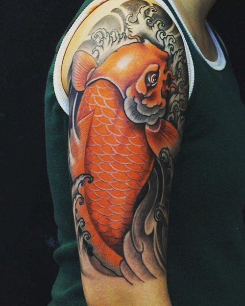 Koi fish tattoo design 40 coy fish tattoo ideas 2017 for Coy fish designs