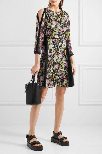 2960340f2c2044 3.1 Phillip Lim - Meadow Flower Cold-shoulder Printed Silk-crepe Dress -  Black - US