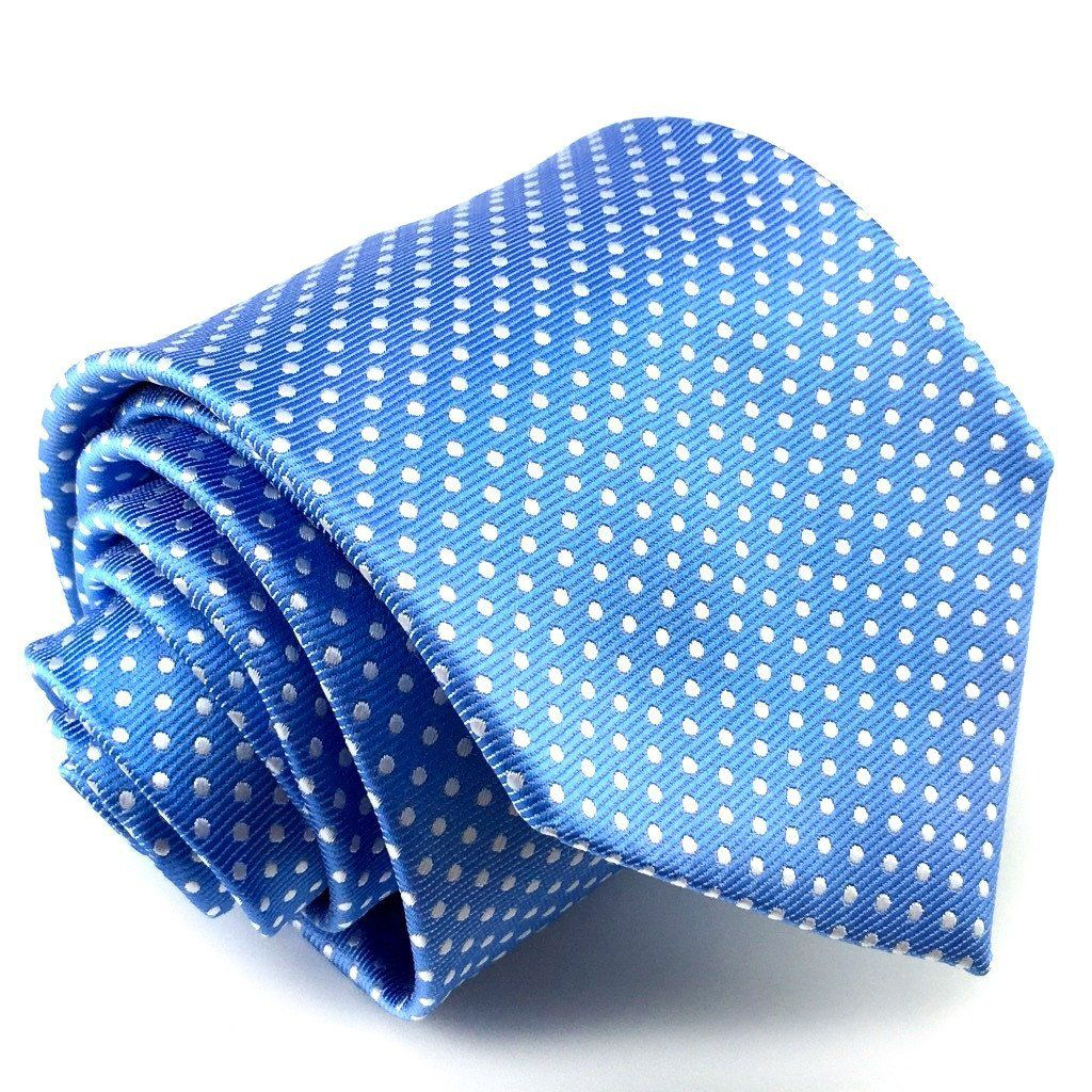 Sky Blue with White Polka Dots Necktie Polka dots, Polka