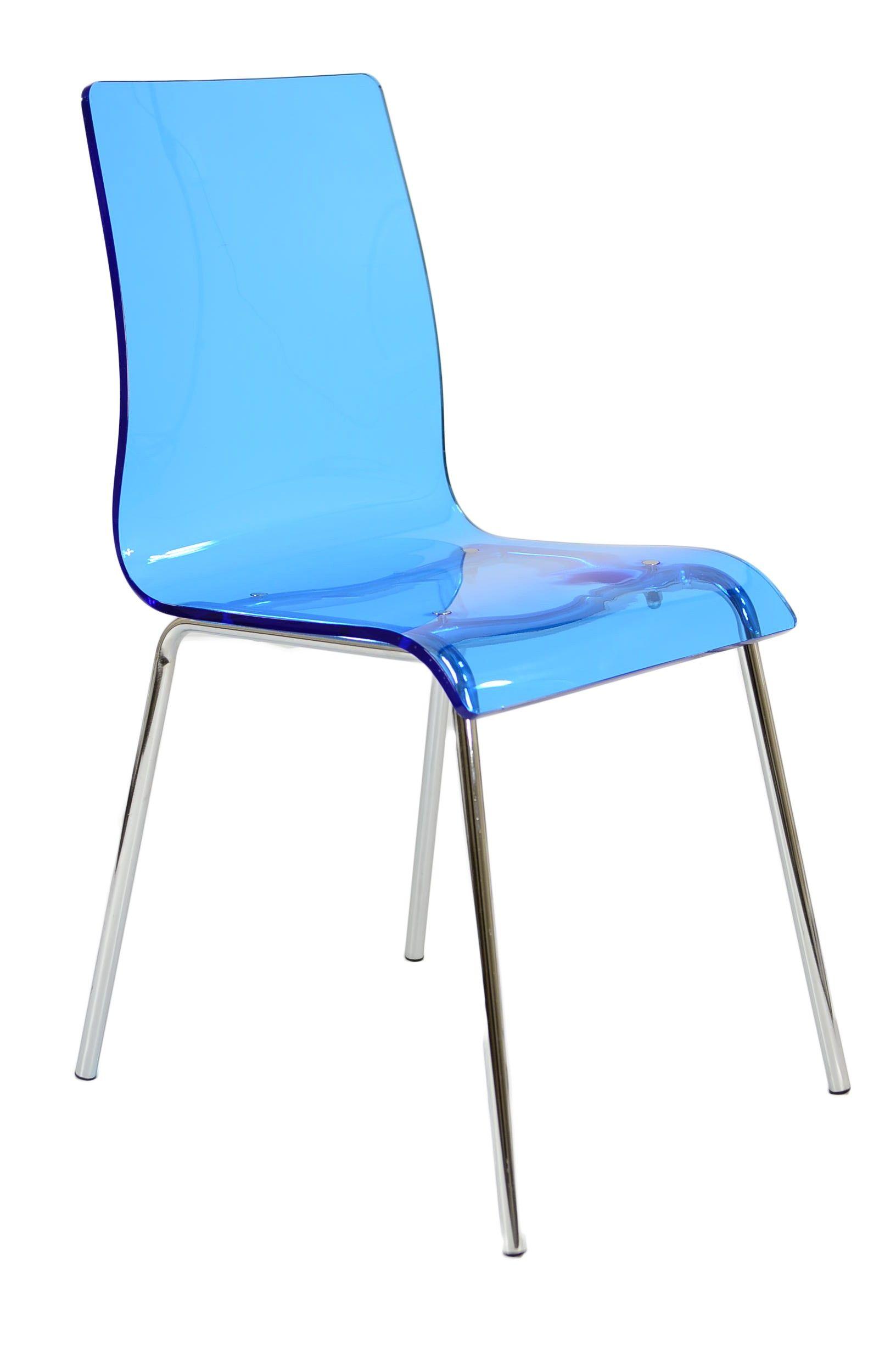 Ava Blue Sparkle Acrylic Dining Chair Decora 231 227 O Acr 237 Lico