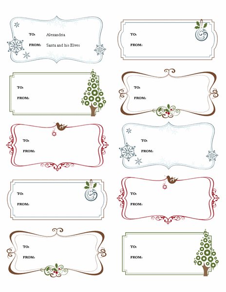 Retro Holiday Gift Tags Templates Office Com Gift Tag Template Gift Tag Template Free Free Gift Tags