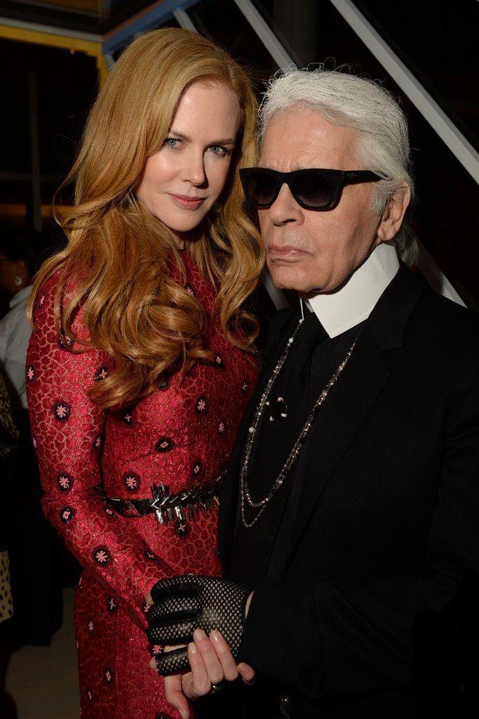 45687e503554 Nicole Kidman in Louis Vuitton with Karl Lagerfeld at the Louis Vuitton  Celebrating Monogram dinner.