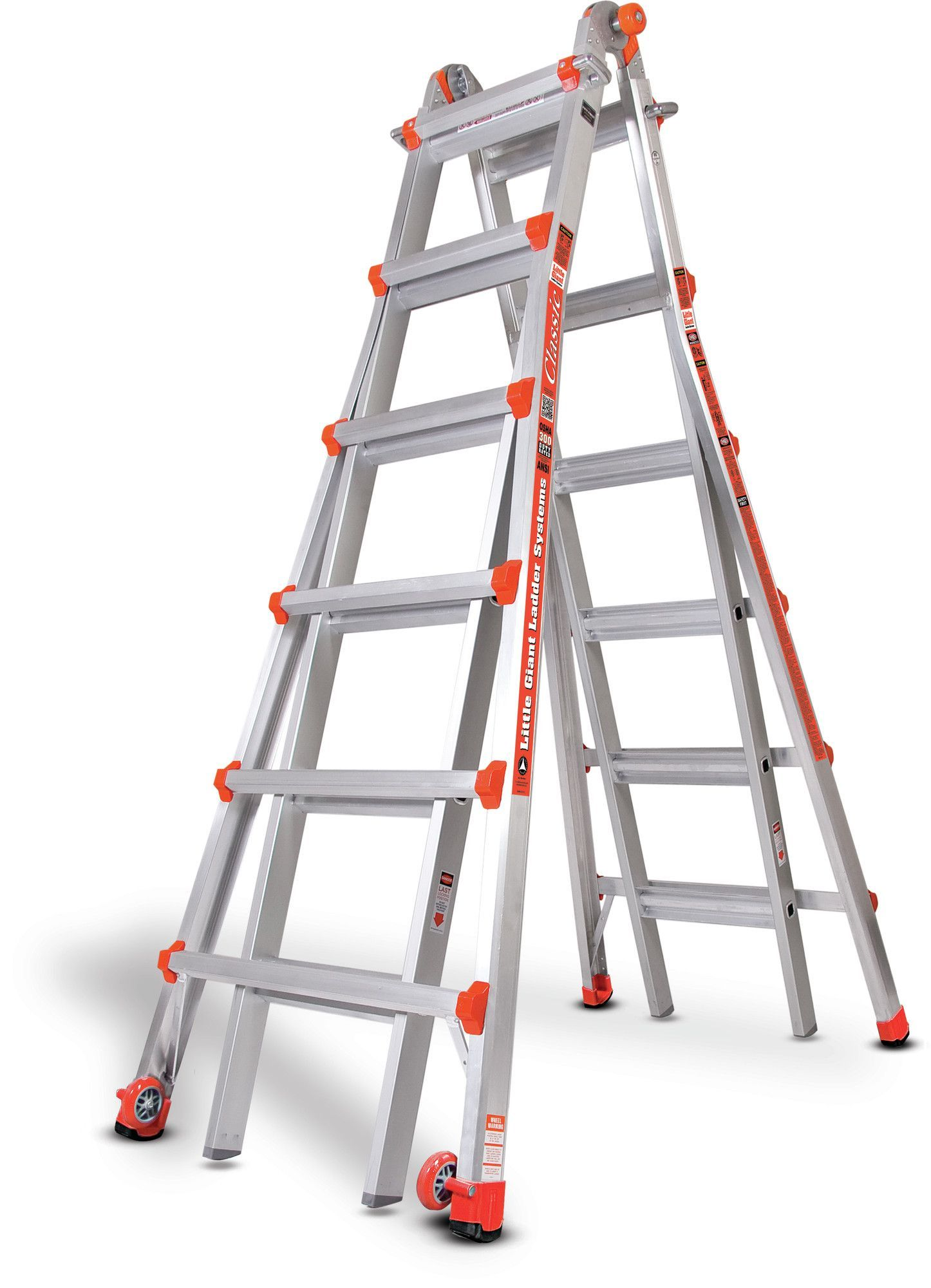 26 Ft Aluminum Classic Model 26 Type 1a Multi Position Ladder Little Giants Best Ladder Telescopic Ladder