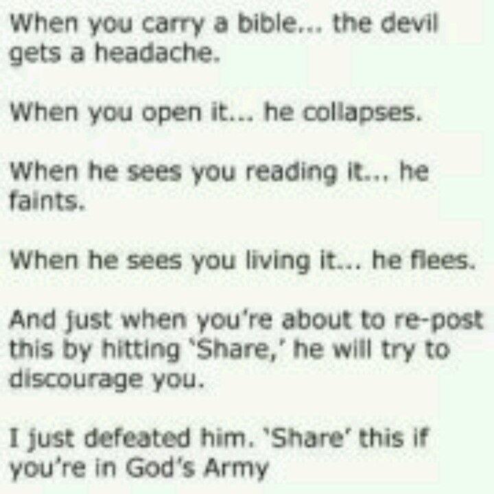 Rebuking the devil!   _ _   God jesus, Chain letter, God