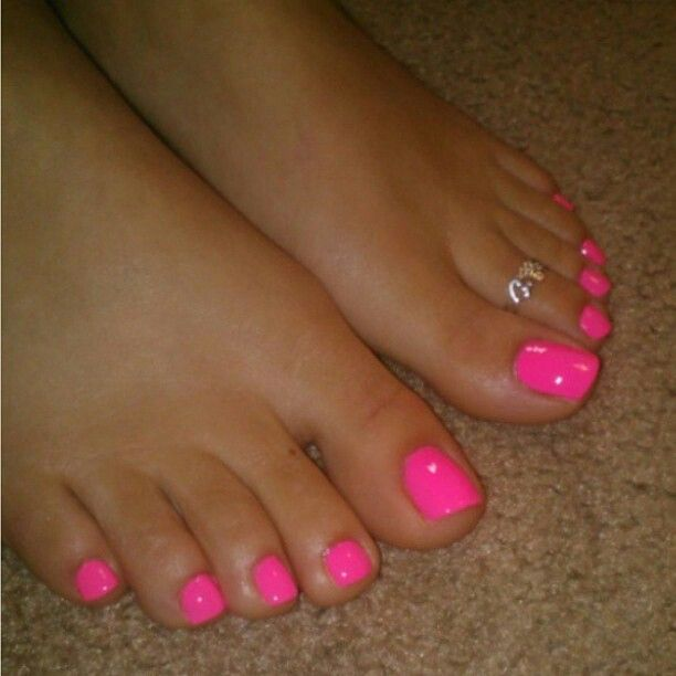 Pretty Toes  Painted Toes, Hot Pink Toes, Pretty Pedicures