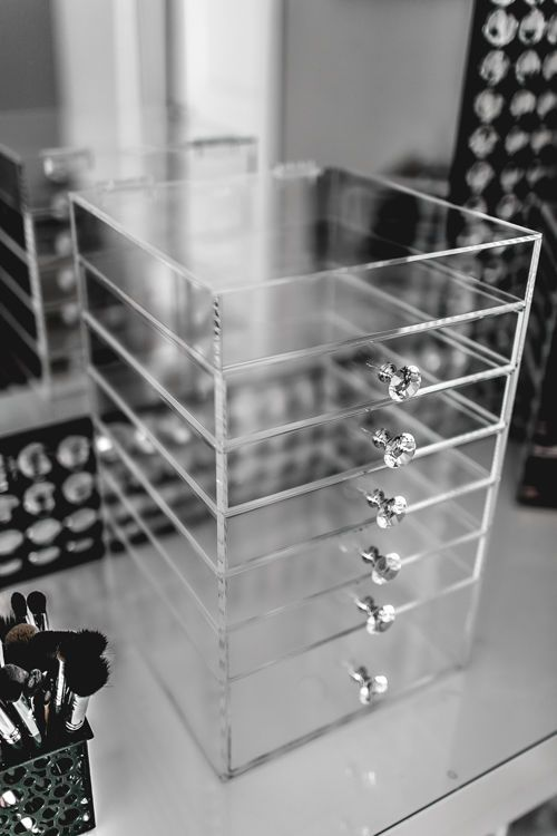 6 Drawer Acrylic Makeup Organizer Cube Cosmetics Storage Box Luxury Diamond  Knob In Estuches Y Bolsos Para Maquillaje | EBay