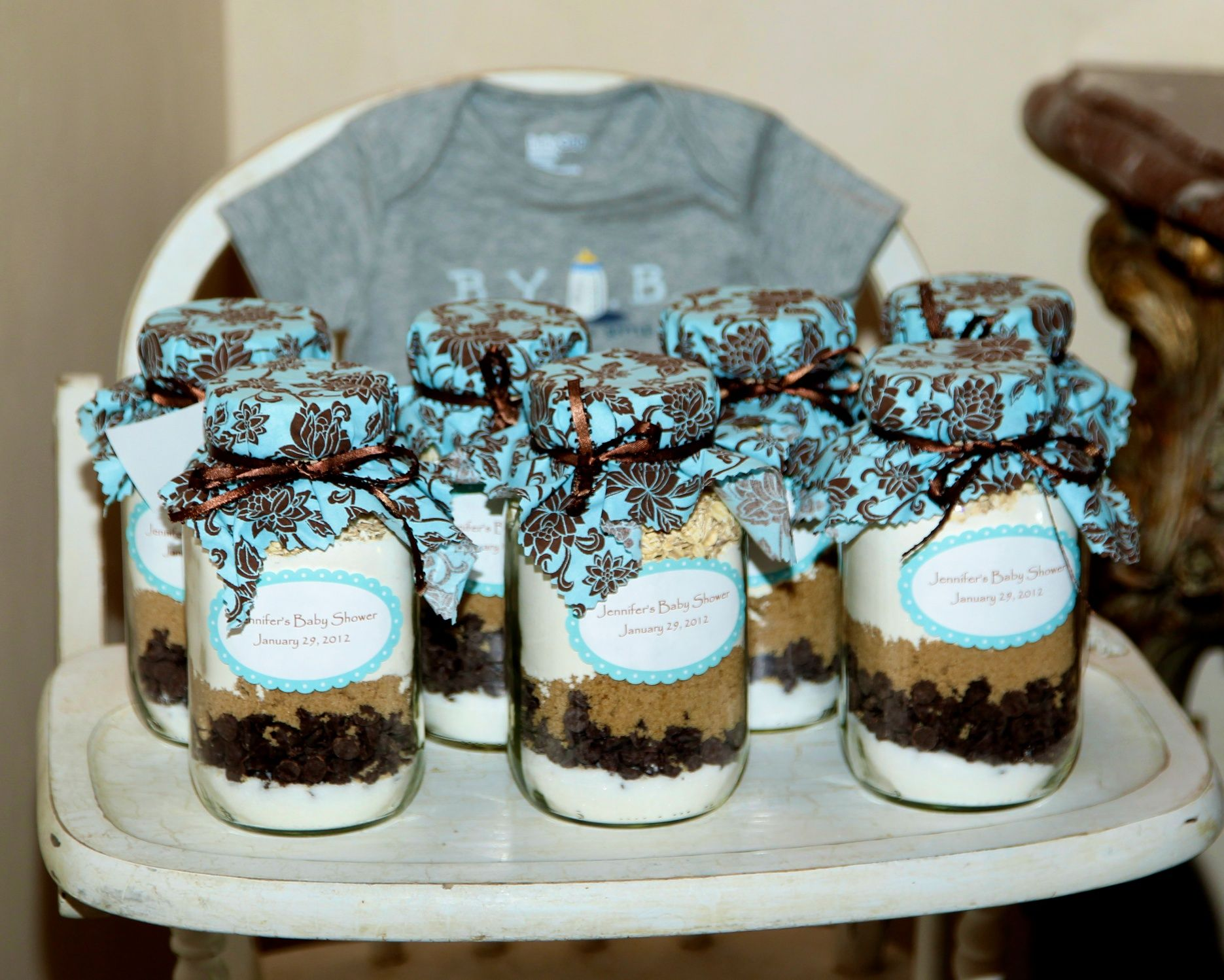 Cookie Recipe in a Mason Jar Party Favors