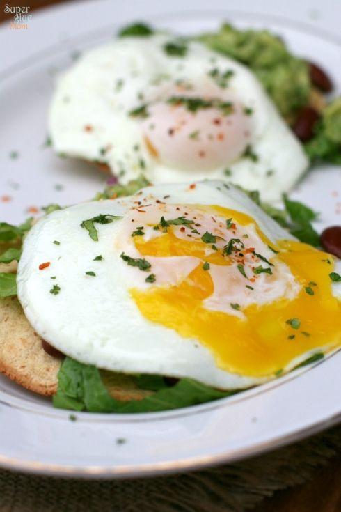 Guacamole Tostadas with Fried Eggs » Super Glue Mom™