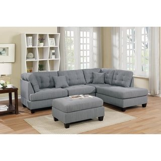 Copper Grove Castres 3 Piece Polyfiber Sectional Set With Cocktail