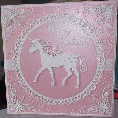 Handmade Luxury Childrens Fantasy Pagan Birthday Card A White