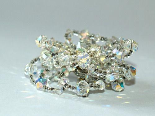 BellaRosaAntiques.com  Vintage Three Dimensional Crystal Brooch-Aurora Borealis Brooch, 3D Brooch, 3D Pin, Aurora Borealis Pin, Vintage Brooch Crystal, Vintage Cry...