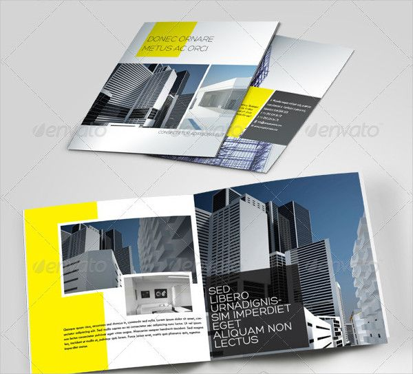 Minimal Brochure Template for Construction Companies Construction