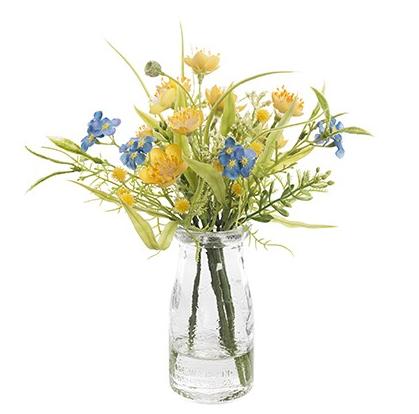 Artificial Ercup Gyp Vintage Milk Bottle Flowers
